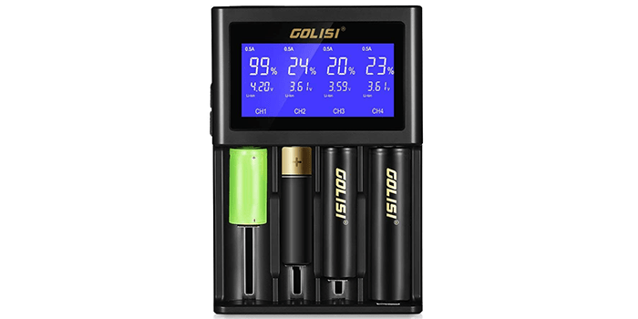 INLIFE LCD Display Universal Battery Charger