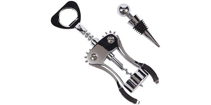 Luxury Corkscrew and Wine Stopper Set