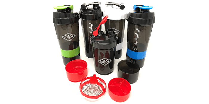 GOODLIFE Products Stackable Protein Shaker Bottle