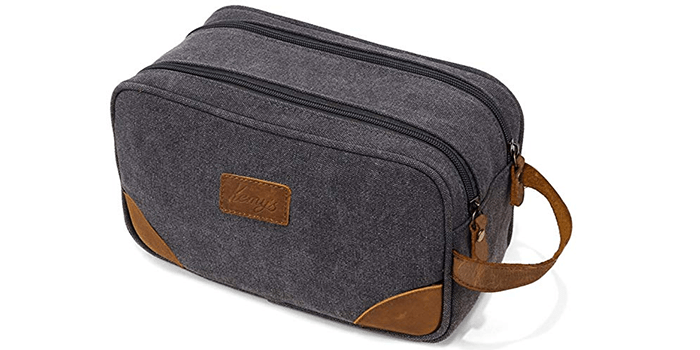 Kemy's Mens Toiletry Bag with Double Compartments