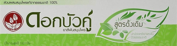 Twin Lotus Herbal Fluoride-Free Natural Toothpaste