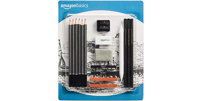 AmazonBasics Sketch and Drawing Pencil Set
