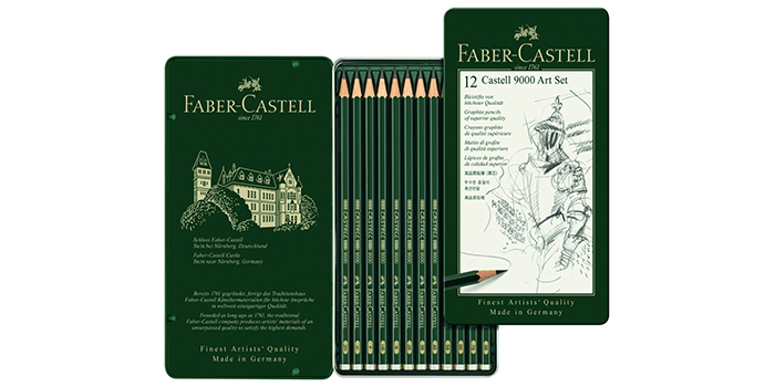Faber-Castell 9000 Graphite Sketch Pencil Set
