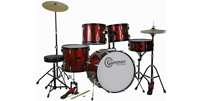 Gammon Percussion Drum Set Wine Red Complete