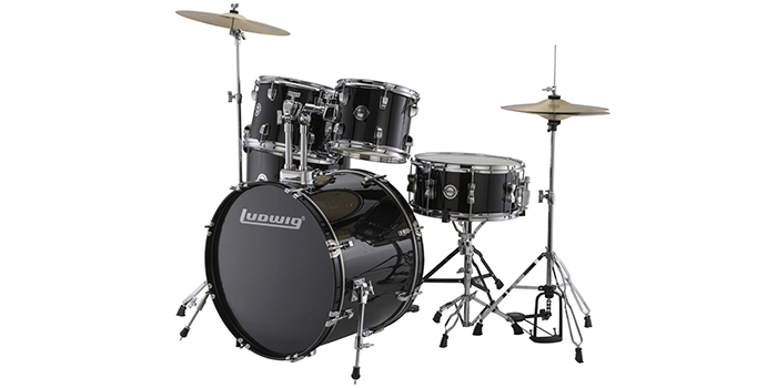 Ludwig Accent Drive Black Drum Set