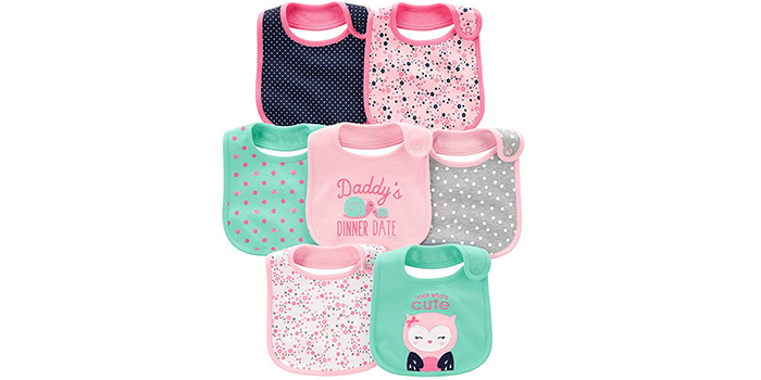 Simple Joys by Carter's Baby Girls' Teething Bibs