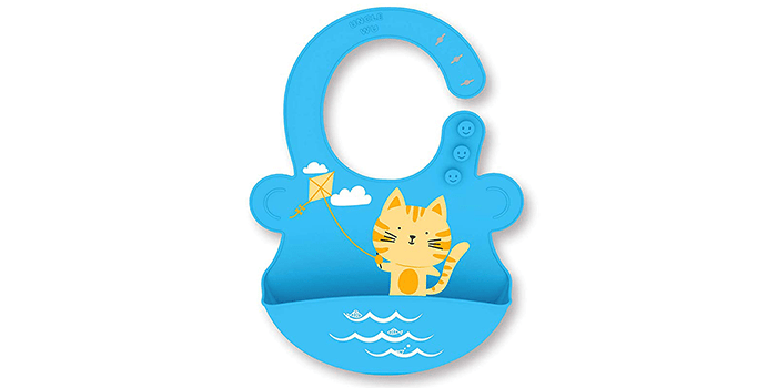 UNCLEWU Waterproof Silicone Bib