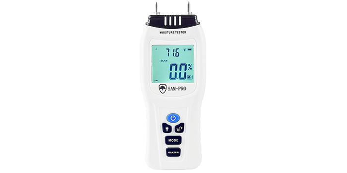 Dual Moisture Meter By Sam-Pro Tools