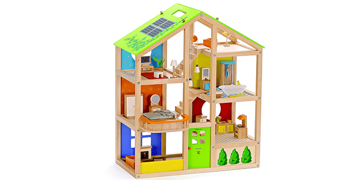 Hape – All Seasons Wooden Doll House