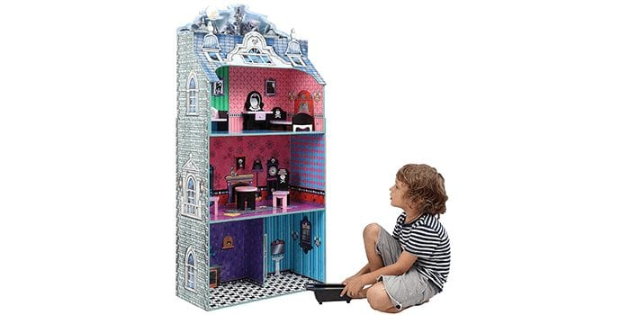 Monster Mansion Wooden Doll House by Teamson Kids