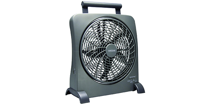 """O2COOl 10"""" Battery Operated Fan"""
