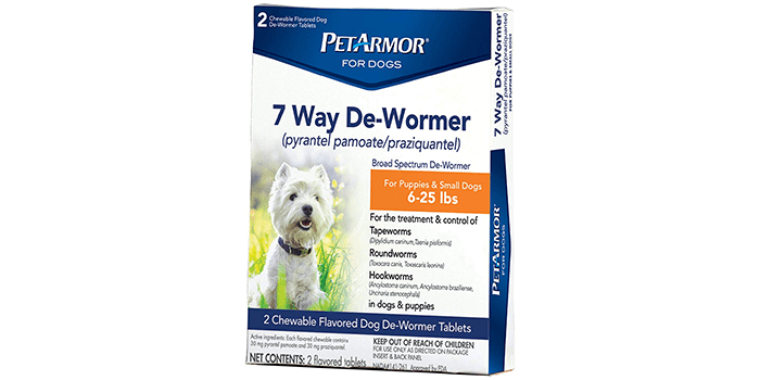PETARMOR 7 Way De-Wormer for Puppies and Small Dogs