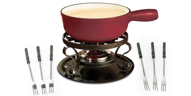 Swissmar KF-66517 Lugano Cast Iron Cheese Fondue Set