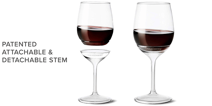 TOSSWARE Stemmed Vino - Recyclable Wine Plastic Cup