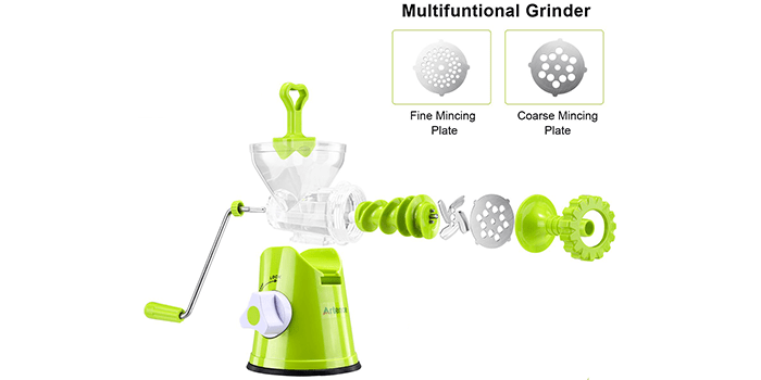 Artence Meat Grinder with Stainless Steel Plate