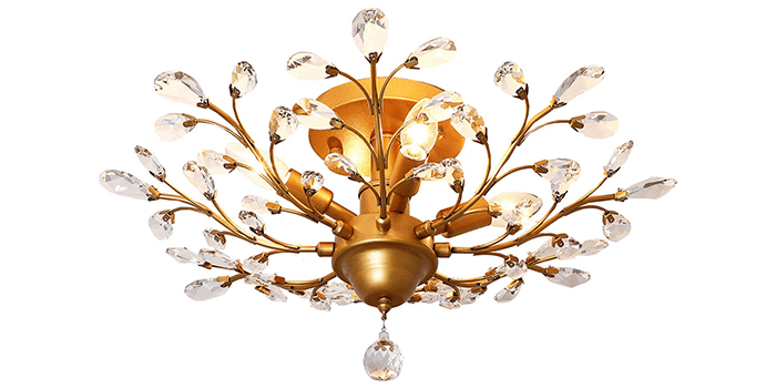 Garwarm Vintage Crystal Chandeliers