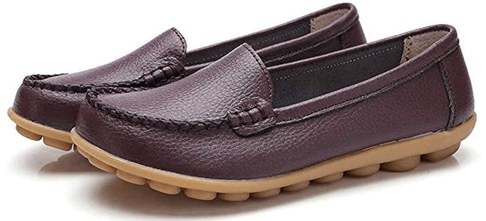 Harence Women's Soft Comfort Leather Slip-On Shoes