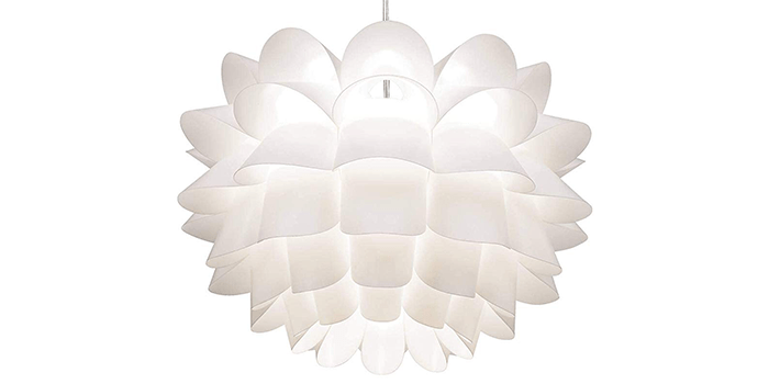 Possini Euro White Flower Brushed Nickel Double Chandelier
