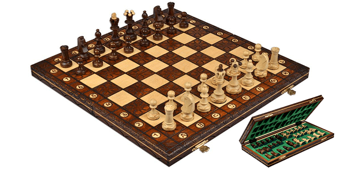 Wegiel Handmade European Wooden Chess Set