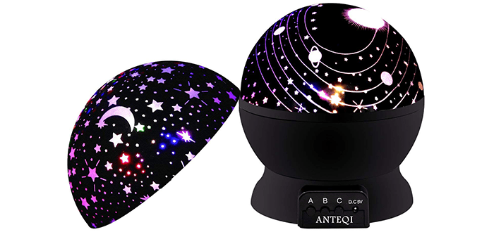 ANTEQI Romantic Rotating Sky Moon & Cosmos Projector