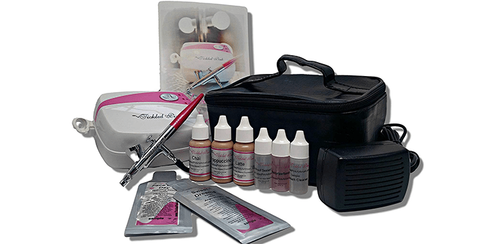 Tickled Pink Cosmetic Airbrush Makeup Kit