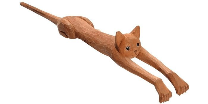 Funny Basswood Cat Back Scratcher