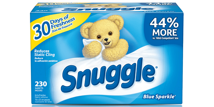 Snuggle Fabric Softener Dryer Sheets