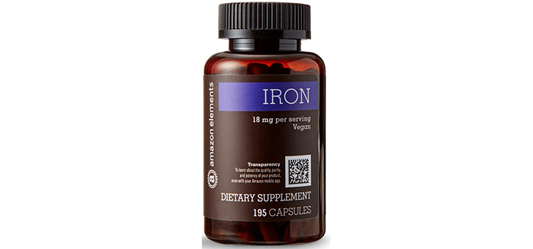 Amazon Elements Iron Vegan Capsules