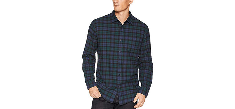 Amazon Essentials Men's Regular-Fit Plaid Flannel Shirt