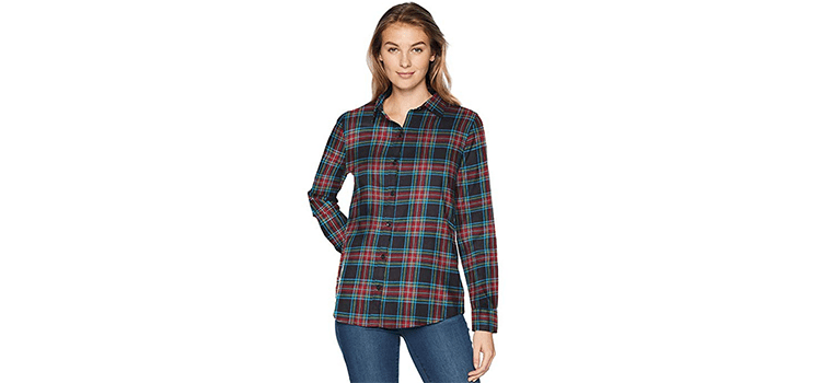 Amazon Essentials Women's Classic-Fit Plaid Flannel Shirt