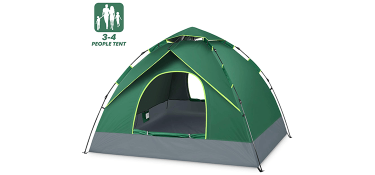 BATTOP 3-4 Person Tent for Family Camping
