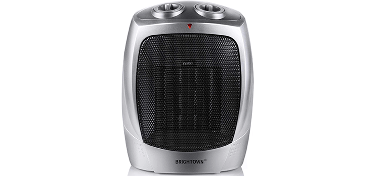 Brightown 750W 500W ETL Listed Quiet Ceramic Space Heater