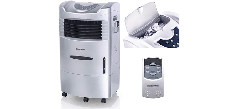 Honeywell Indoor Portable Evaporative Cooler with Fan and Humidifier