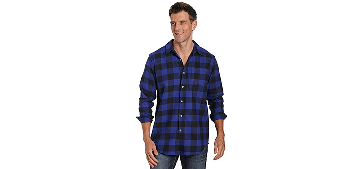 Noble Mount Mens 100% Cotton Flannel Shirt