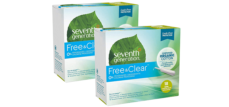 Seventh Generation Organic Super Absorbency Cotton Tampons