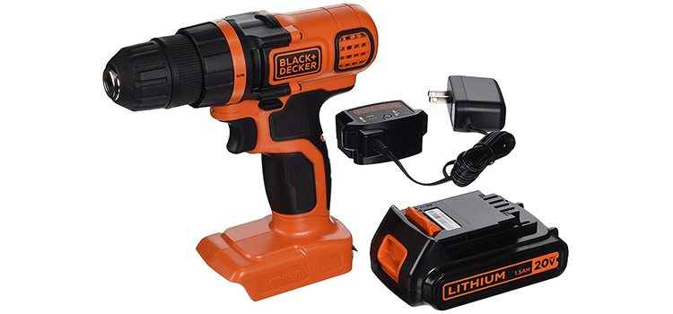 Black+Decker 20V Max Lithium-Ion Drill Driver