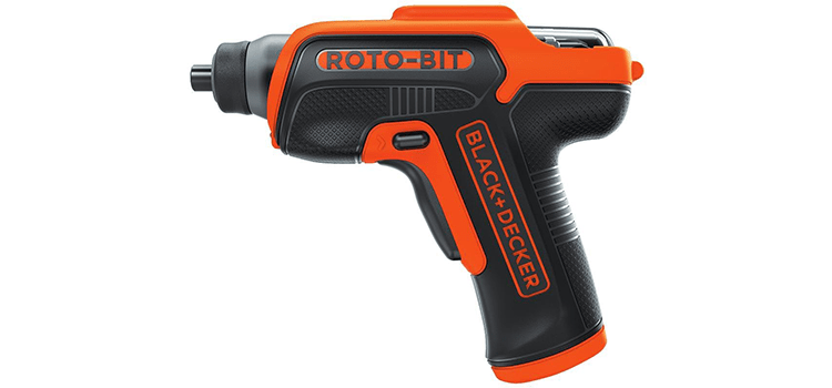 Black+Decker 4V Max Cordless Screwdriver with Bit Storage