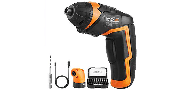 Tacklife Cordless Rechargeable Screwdriver