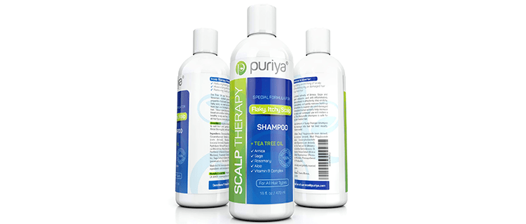 Puriya Sulphate Free Anti Dandruff Shampoo with Tea Tree Oil