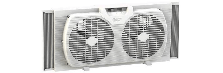 Comfort Zone CZ319WT 9-inch Twin Window Fan