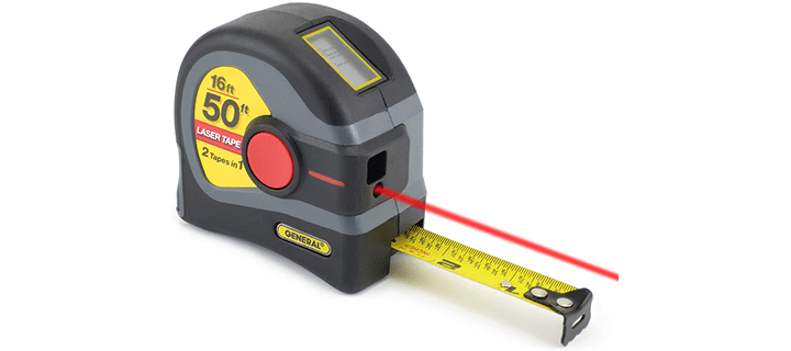 General Tools LTM1 2-in-1 Laser Tape Measure