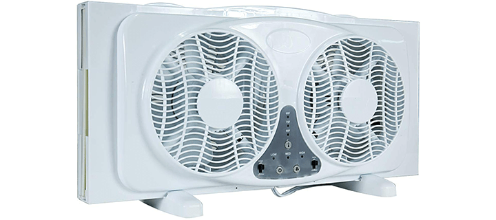 Simple Deluxe 9-Inch Dual Twin Window Fan