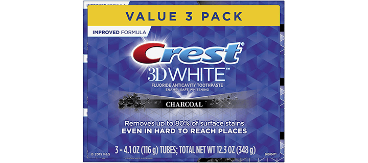Crest 3D White, Charcoal Whitening Toothpaste