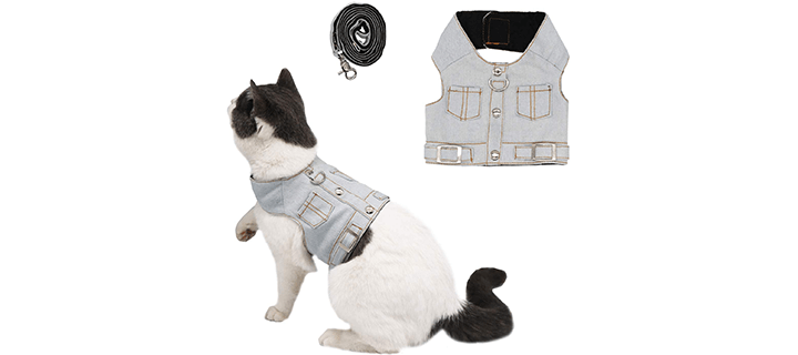 Ruri's Cat Jeans Jacket Harness Vest