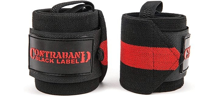 Contraband Black Label 1001 Weight Lifting Wrist Wraps