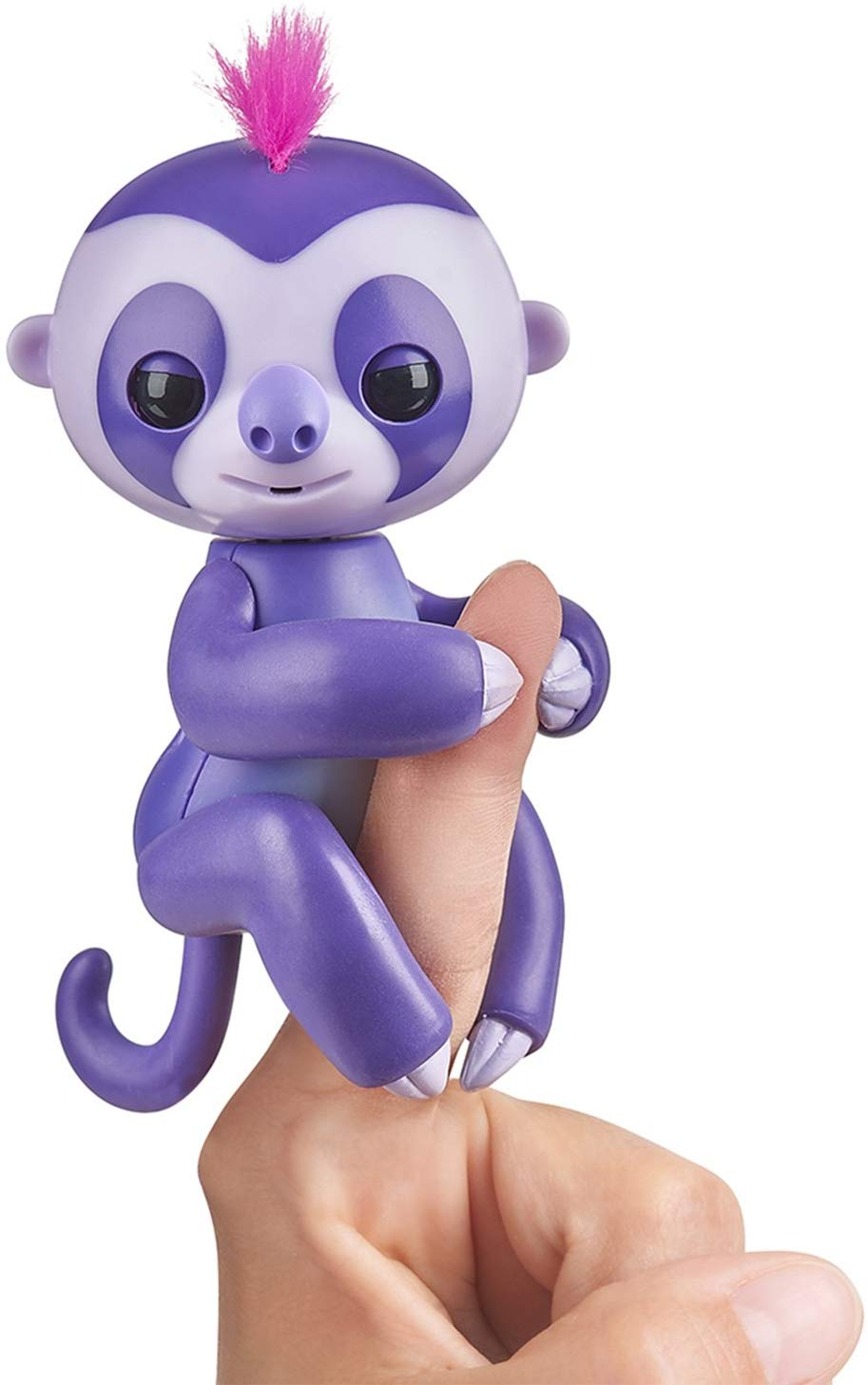 Fingerlings Baby Sloth - Marge (Purple) - Interactive Baby Pet - by WowWee puppet