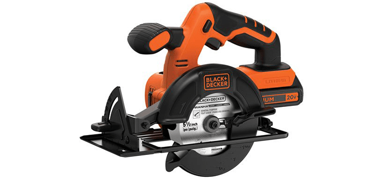 Black+Decker Max 5.5-Inch Cordless Circular Saw