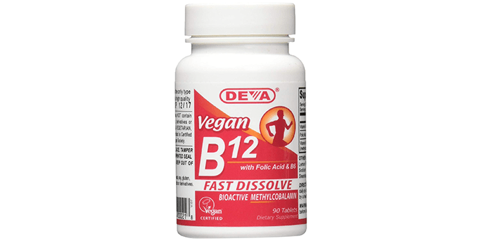 Deva Vegan Vitamins Sublingual B12 Tablets