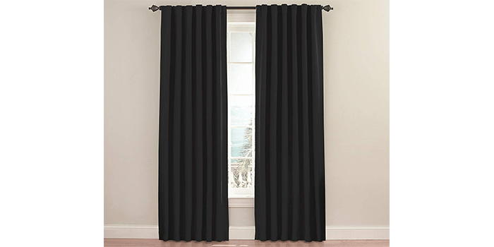 Eclipse 11353052095BLK Fresno Blackout Single Window Curtain