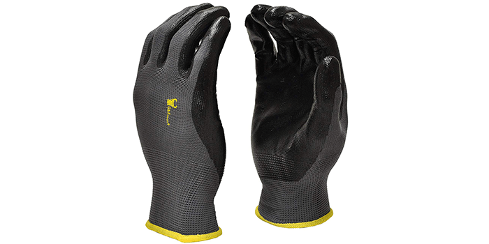 G&F Products Seamless Nylon Knit Nitrile Coated Work Gloves
